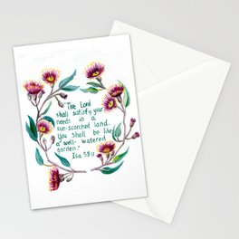 Isaiah 58:11 Stationery Cards