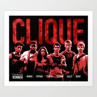 the maze runner Art Prints featuring The Maze Runner Clique  by wecallthemblades
