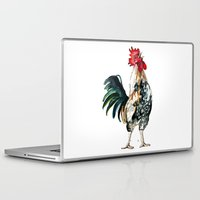 rooster Laptop & iPad Skins featuring Rooster by Bridget Davidson