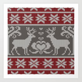 Ugly knitted Sweater Art Print