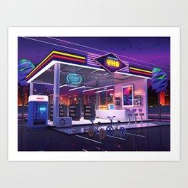VHS Video Store Art Print