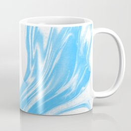 Suminagashi 2 blue and white marble spilled ink ocean swirl watercolor painting Coffee Mug