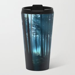 Haunted forest- winter mist in forest Travel Mug