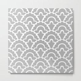 Fan Pattern Gray Metal Print
