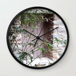Window in Tinos Wall Clock