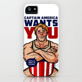 Captain Wants You (For US Army) iPhone Case