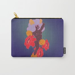 Horned Girl with Flowers Carry-All Pouch