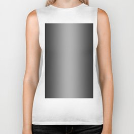 Black to White Vertical Bilinear Gradient Biker Tank