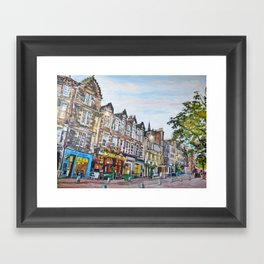 Grassmarket Dusk, Edinburgh Framed Art Print