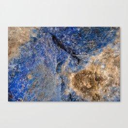 Lapis lazuli texture up close Canvas Print