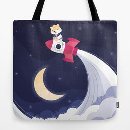 Reach for the moon Tote Bag