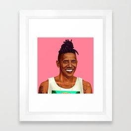 Hipstory - Barack Obama Framed Art Print