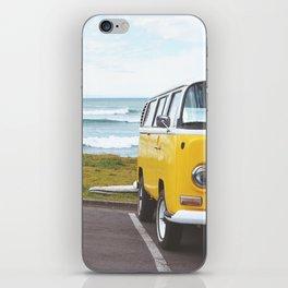 Combi yellow beach iPhone Skin