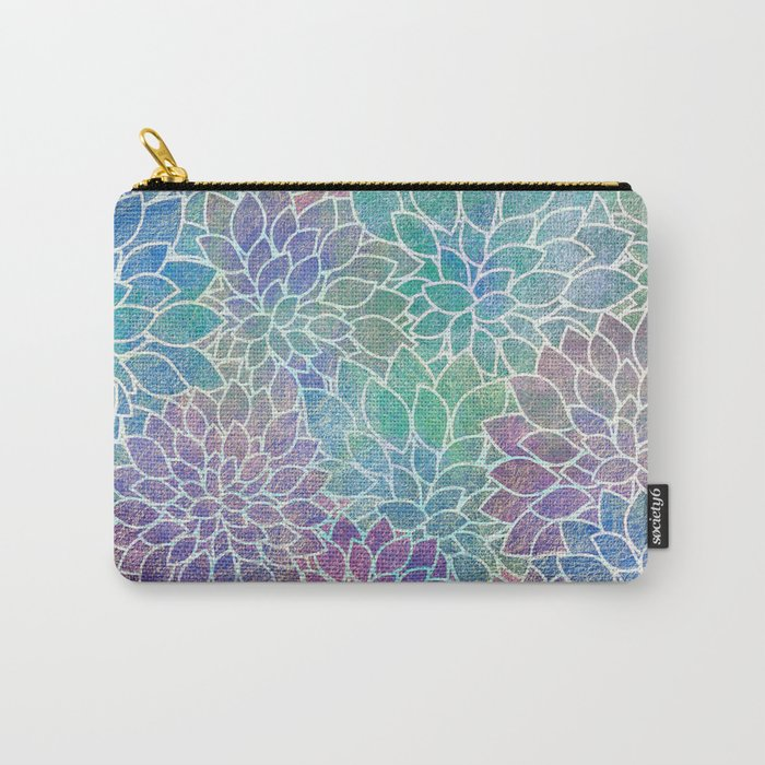 Floral Abstract 9 Carry-All Pouch
