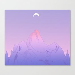 Soft Moon Canvas Print