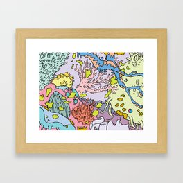 Lost in aquatic thoughts by 12fv Framed Art Print