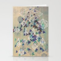 crystals Stationery Cards featuring crystals by Sil-la Lopez