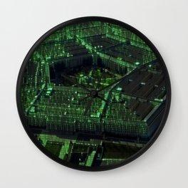 Usa Pentagon Artistic Illustration Data Code Style Wall Clock
