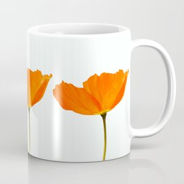 Three Orange Poppy Flowers White Background #decor #society6 #buyart Coffee Mug