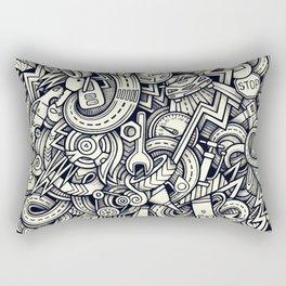 car doodle 1 Rectangular Pillow