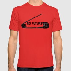 No Future MEDIUM Mens Fitted Tee Red