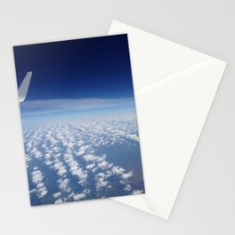 clouds below us Stationery Cards