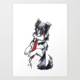 Mr. Collie Art Print