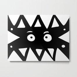 Black and white monster Metal Print