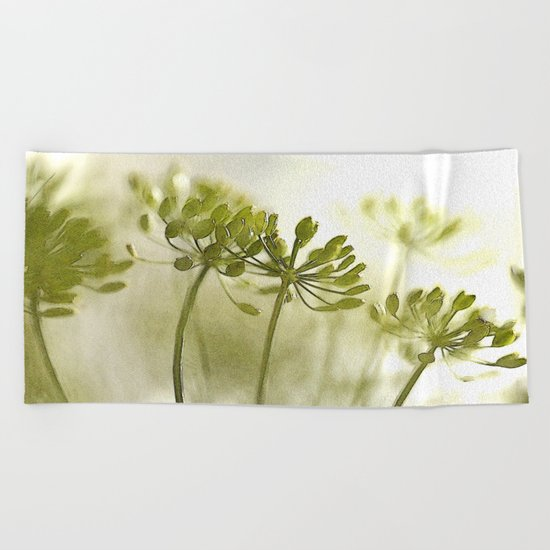 Something green and delicate Beach Towel