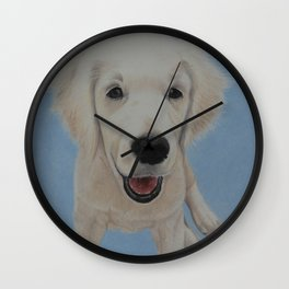 Golden Puppy Wall Clock
