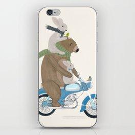 biker buddies iPhone Skin