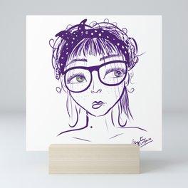 Mente púrpura 1 Mini Art Print
