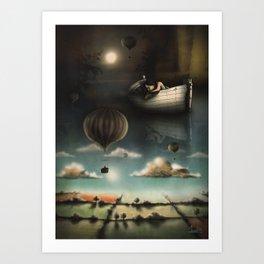 Above, Below, & Beyond Art Print