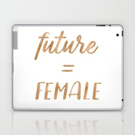The Future is Female Copper Bronze Gold on Marble Laptop & iPad Skin