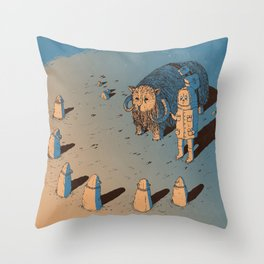 The Bison #1 Throw Pillow