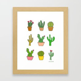 Colorful cactus Framed Art Print