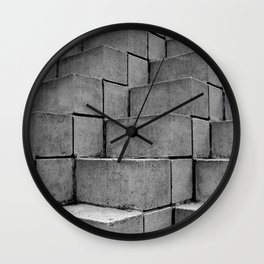Concrete Thoughts on Concrete Steps Wall Clock