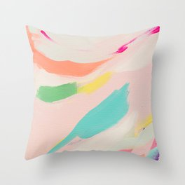 Wild Ones #3 - abstract painting Throw Pillow