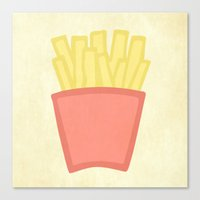 french fries Canvas Prints featuring French Fries by andrialou