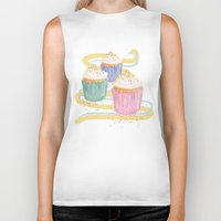 sprinkles Biker Tanks featuring Sprinkles by Hayley Bowerman Design