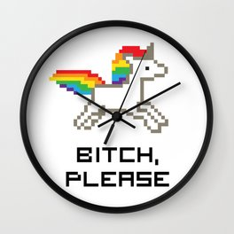 8-bit Unicorn Wall Clock