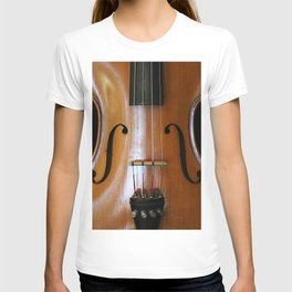 Close-up of Beautiful Violin Black Background #decor #society6 #buyart T-shirt
