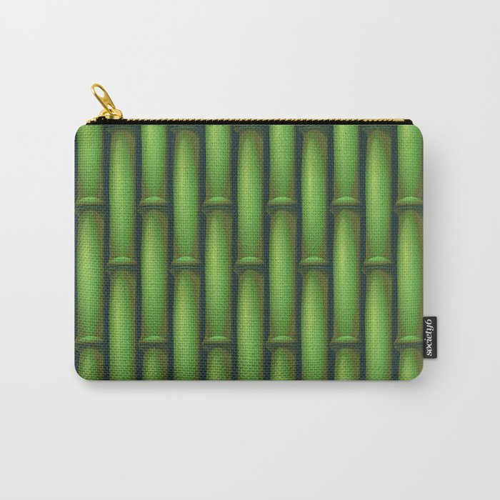 Bamboo Basketweave  Carry-All Pouch