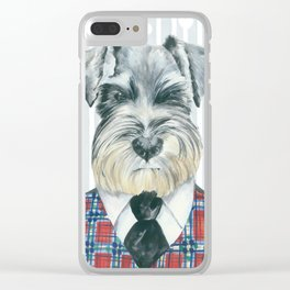 Schnauzer Mc Doogall Clear iPhone Case