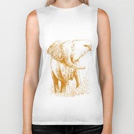 Elephant caramel Biker Tank