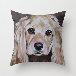 Cocker Spaniel Dog Pet Portrait Throw Pillow