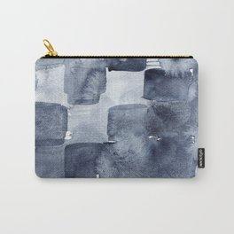 Indigo Watercolor Carry-All Pouch