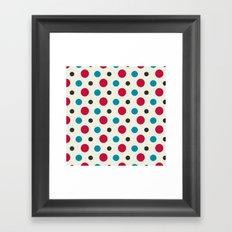 Like a Leaf [spots] Framed Art Print