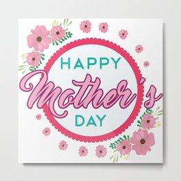 Happy Mothers Day Message Best Mom Grandma Gift Metal Print