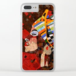 AFRICA QUEEN Clear iPhone Case